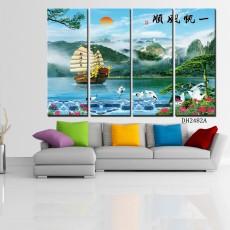 Tranh bộ 4 bức phong cảnh NT16 (kích thước 120x80cm)