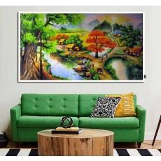Tranh Canvas, tranh treo tường phong cảnh CVS916