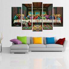 Tranh ghép bộ 5 bức nghệ thuật NT059