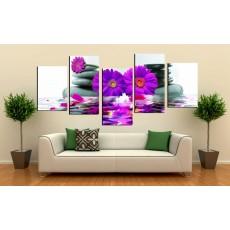 Tranh ghép bộ 5 bức nghệ thuật DH2013A kích thước (150x80cm)