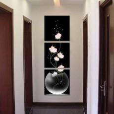 Tranh bộ treo tường bình Hoa trắng DH1210A