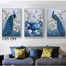 Tranh Scandinavian treo tường nghệ thuật Chim Công  CVS199