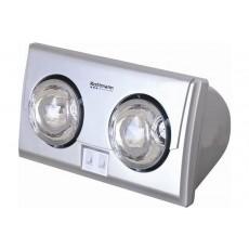 Đèn sưởi nhà tắm Kottmann 2 bóng bạc
