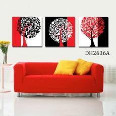 Tranh treo tường 3 bức nghệ thuật DH2636A