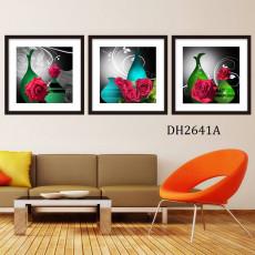 Tranh treo tường 3 bức nghệ thuật DH2641A