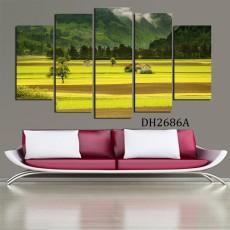 Tranh ghép bộ phong cảnh 5 bức DH2686A