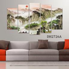 Tranh ghép bộ nghệ thuât 5 bức phong cảnh DH2726A
