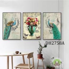Tranh treo tường nghệ thuật Chim Công DH2758A