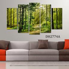 Tranh ghép bộ phong cảnh 5 bức DH2774A