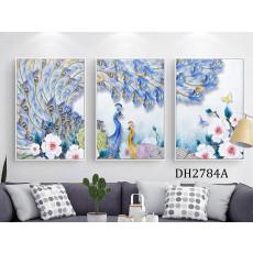 Tranh treo tường nghệ thuật Chim Công DH2784A