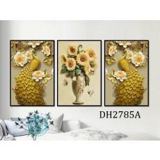 Tranh gương 3 bức tranh nghệ thuật MC150