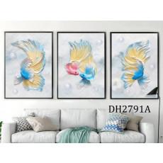 Tranh treo tường 3 tấm nghệ thuật DH2791A
