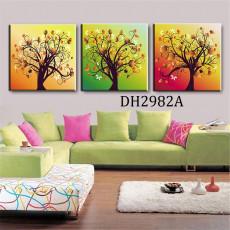 Tranh treo tường 3 bức nghệ thuật DH2982A