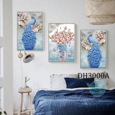 Tranh treo tường nghệ thuật Chim Công DH3000A