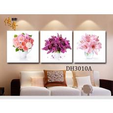 Tranh bộ 3 bức tranh hoa DH3010A