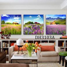 Tranh treo tường 3 bức phong cảnh nghệ thuật DH3103A