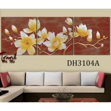 Tranh treo tường 3 bức  nghệ thuật DH3104A