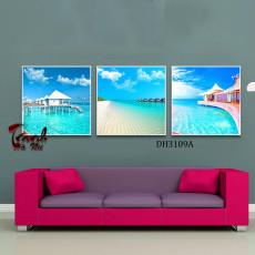 Tranh treo tường 3 bức phong cảnh nghệ thuật DH3109A