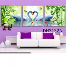 Tranh treo tường 3 bức nghệ thuật Thiên Nga DH3132A