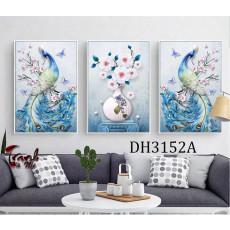 Tranh treo tường nghệ thuật Chim Công DH3152A