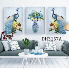 Tranh treo tường nghệ thuật Chim Công DH3157A
