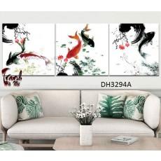 Tranh treo tường 3 bức nghệ thuật DH3294A