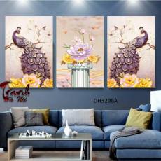 Tranh treo tường nghệ thuật Chim Công DH3298A