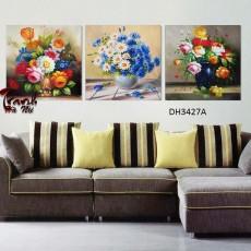 Tranh treo tường 3 bức phong cảnh nghệ thuật DH3427A