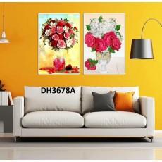 Tranh treo tường 2 bức  nghệ thuật DH3678A