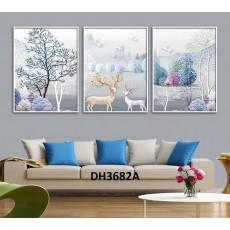 Tranh treo tường nghệ thuật Hươu DH3682A