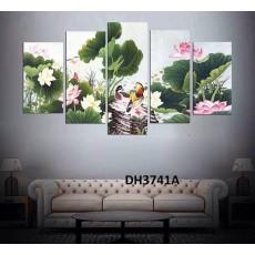 Tranh ghép bộ nghệ thuât 5 bức phong cảnh DH3741A