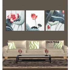Tranh treo tường 3 bức  nghệ thuật DH3794A