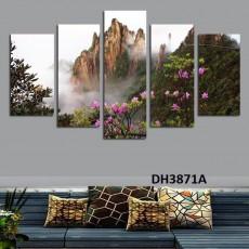 Tranh ghép bộ nghệ thuât 5 bức phong cảnh DH3871A