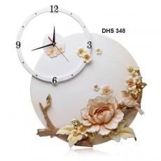 Đồng hồ trang trí điêu khắc phù điêu  DHS358