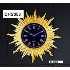 Đồng hồ trang trí điêu khắc phù điêu  DHS353