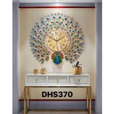 Đồng hồ trang trí chim công  DHS370