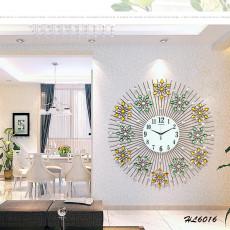 Đồng hồ trang trí mặt trời hoa vàng HL6016A