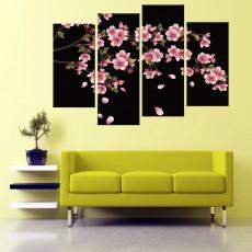 Tranhbộ 4 bức hoa Mai DH2093a (kích thước 120x80cm)