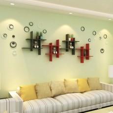 Bộ kệ gỗ trang trí kết hợp ô thăng KG116