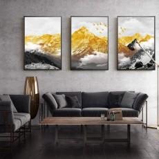 Tranh gương 3 bức tranh phong cảnh MC116