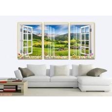 Tranh gương 3 bức tranh phong cảnh  MC126