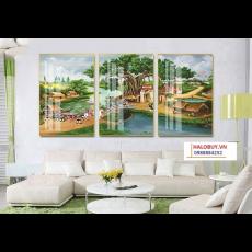 Tranh gương 3 bức tranh nghệ thuật MC152
