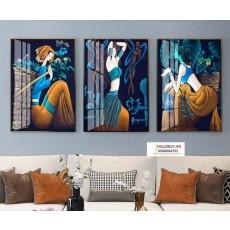 Tranh gương 3 bức tranh nghệ thuật MC191