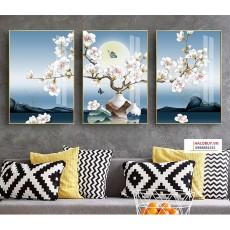 Tranh gương 3 bức tranh nghệ thuật MC236