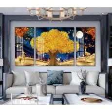 Tranh gương 3 bức nghệ thuật MC254