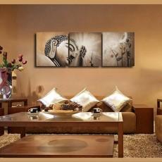 Tranh treo tường 3 bức tranh Đức Phật NT087