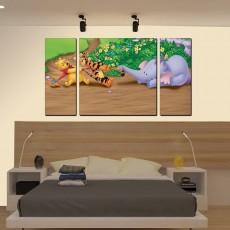 Tranh đồng hồ, tranh treo tường nghệ thuật phòng bé NT094