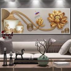 Tranh đồng hồ,tranh treo tường nghệ thuật NT135