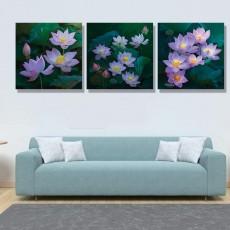 Tranh đồng hồ, tranh treo tường 3 bức nghệ thuật NT147