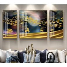 Tranh đồng hồ, tranh treo tường nghệ thuật NT174